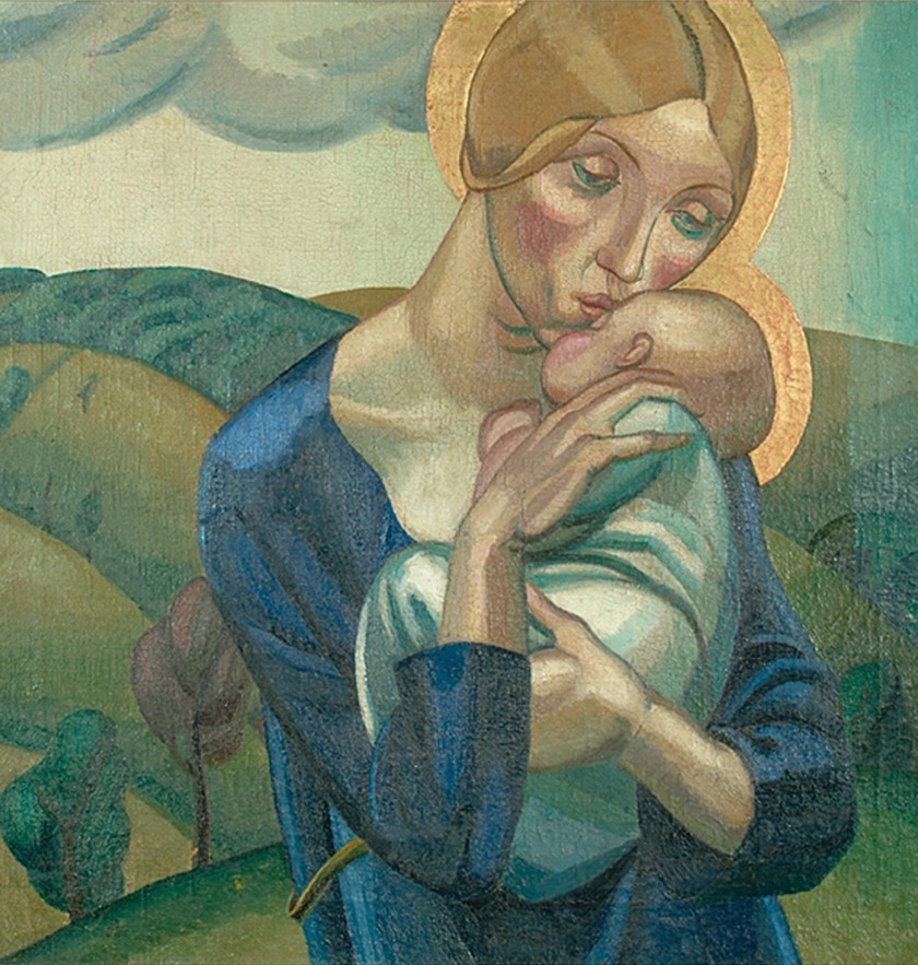 david-jones-madonna-and-child-in-a-landscape-main