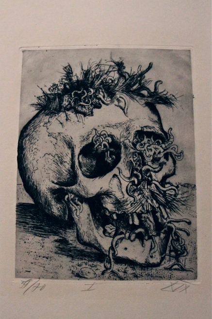 Otto Dix Skull from The War (1924) - http://www.moma.org/collect